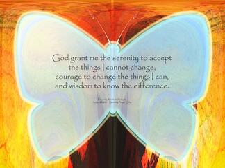 serenity prayer butterfly