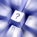 question mark blur