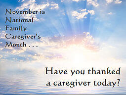 have you thanked a caregiver today