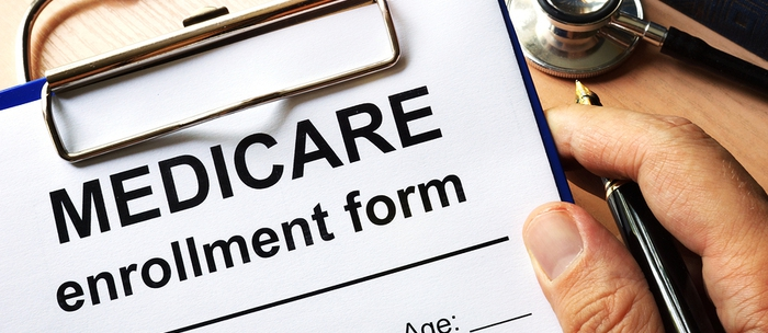 Medicare enrollment form.